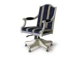 Art.224 armchair, Klassischen Stil Sessel mit Rädern und höhenverstellbar