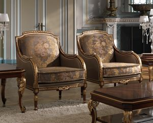 ART. 2868, Klassische Sessel mit goldenen Details