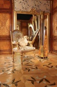 Art. 65, Geschnitzten vergoldeten Stuhl für Luxus-Esszimmer