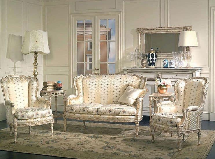 Art. SM 71 San Marco, Sessel elegant, XVIII Jahrhundert Stil, für Hotel-Suite