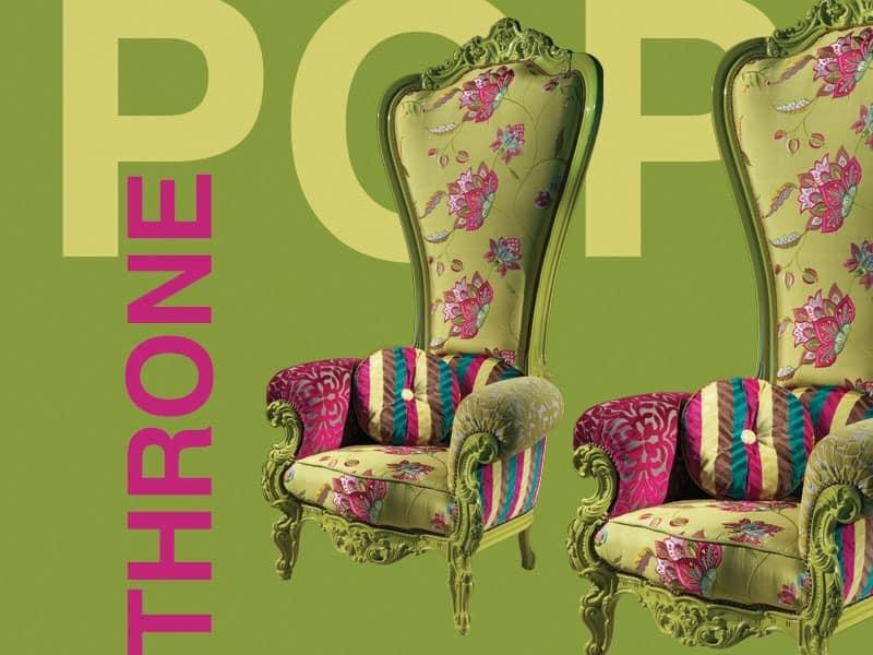 B/110/13 The Throne, Sessel Aus Holz, Verschiedenen Ausführungen, Für