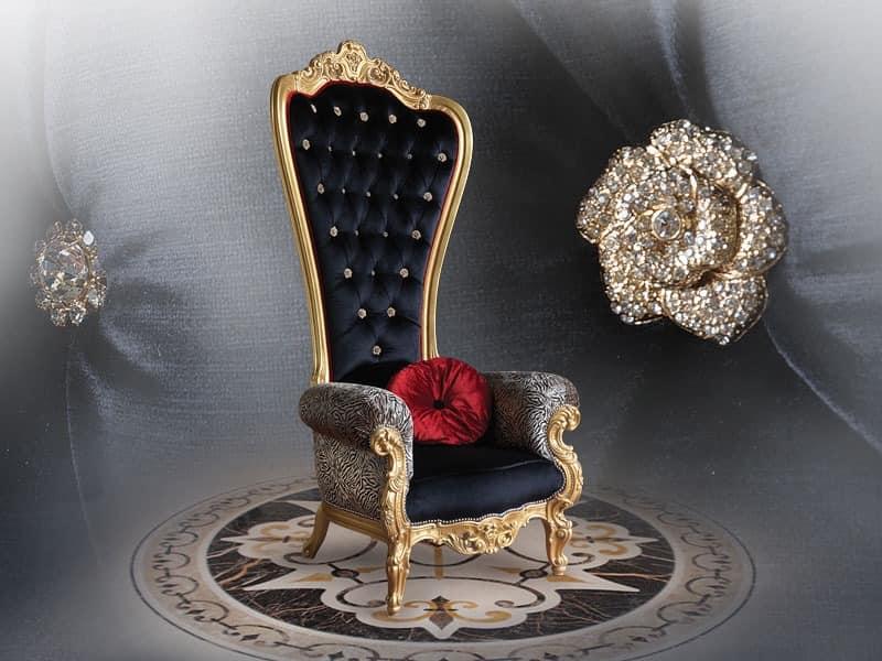 B/110/18 The Throne, Luxuriöse Kuvertierung Sessel, Mit Wertvollen  Oberflächen