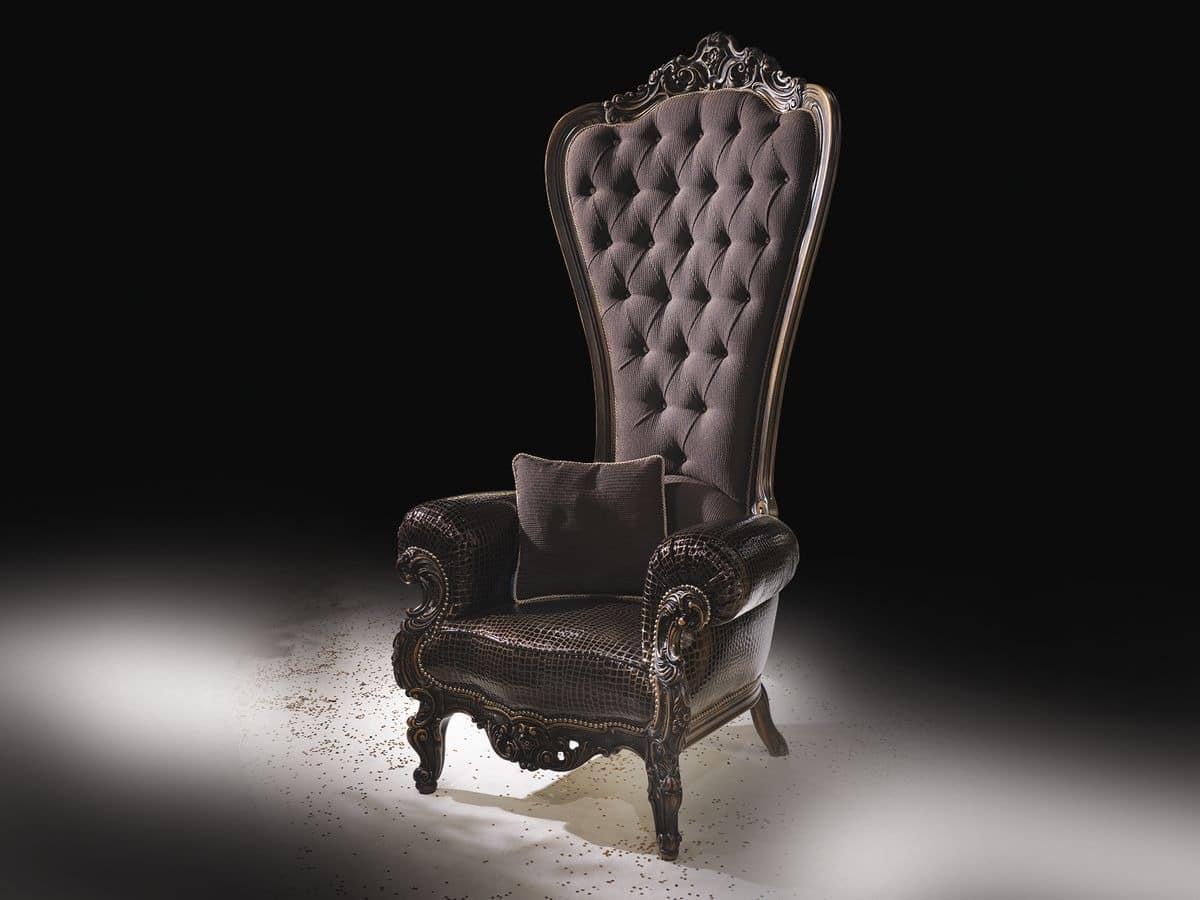 klassische sessel klassischer ledersessel in polyurethan. Black Bedroom Furniture Sets. Home Design Ideas