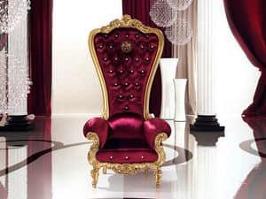 B/110/5 The Throne, Sessel mit eleganten Abgang, für Suite Hotel