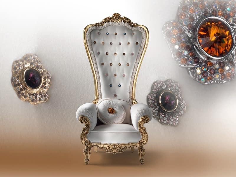 B/110/6 The Throne, Sessel Aus Holz, Für Luxuriöse Residenz