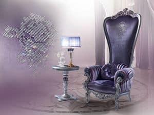 B/110/8 The Throne, Sessel im klassischen Stil, aus Holz geschnitzt