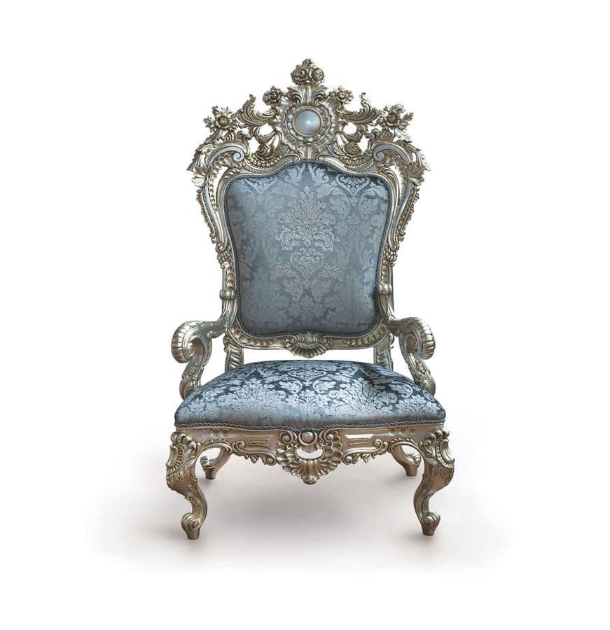 B/94/4 The Throne, Sessel Mit Majestätischen Proportionen In Hartholz