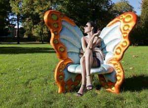 Farfallyna, Eleganter Sessel mit einer ursprünglichen Form der Schmetterling