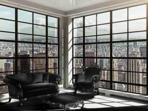 Finlandia Living Corner, Sessel Alternative klassischen Stil, schwarz Veredelung