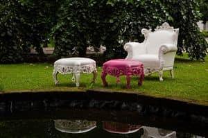 Finlandia Outdoor 452, Sessel und Hocker für draußen, Barock