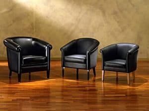 Helmond, Hand arbeitete Sessel, in Leder, für Wohnzimmer