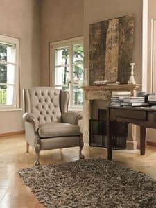 Kyoto, Zugeknöpft Sessel geeignet für klassische Wohnzimmer