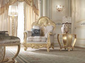 Lario Sessel, Klassischer Sessel mit Spitzendekoration