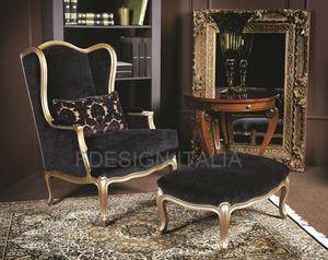 Marja, Klassischer Sessel mit Stoffbespannung