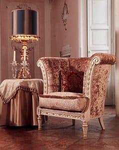 Monnet Sessel, Sessel im luxuriösen klassischen Stil, gesteppter Überzug