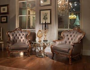 Oxford, Geschnitzten Sessel im klassischen Luxus-Stil