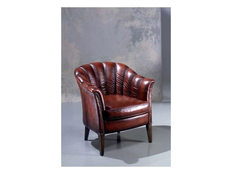 klassischer ledersessel in polyurethan gepolstert idfdesign. Black Bedroom Furniture Sets. Home Design Ideas