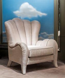 PO55, Klassischer Sessel mit Stoffbespannung