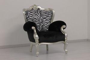Re Sole animalier, Leopard und Zebra-förmige Sessel nach Maß