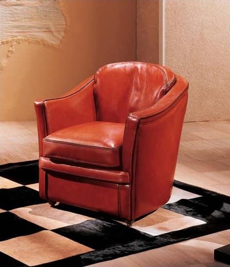 klassischen stil sessel mit lederpolsterung idfdesign. Black Bedroom Furniture Sets. Home Design Ideas