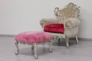 Stradivari Stoff, Herrlich barocker Sessel, aus rotem Stoff