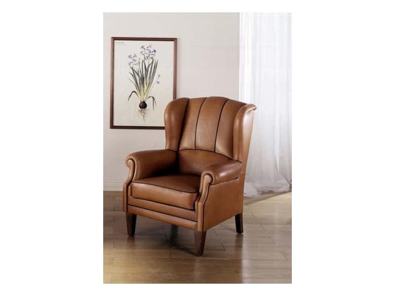 gef llte sessel mit leder bezogen f r luxuszimmer idfdesign. Black Bedroom Furniture Sets. Home Design Ideas