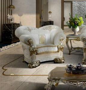 VANITY Sessel, Luxuriöser Sessel anpassbar mit Stickerei