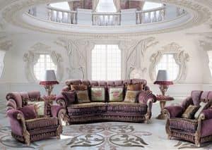 Venice B/1791/2, Sessel für klassische Luxus-Wohnzimmer