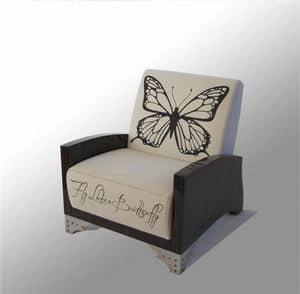 Venus Sessel, Sessel mit anpassbaren Design, Stahlfüße