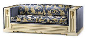 1469LQ, Klassisches Sofa mit drei Sitzplätzen
