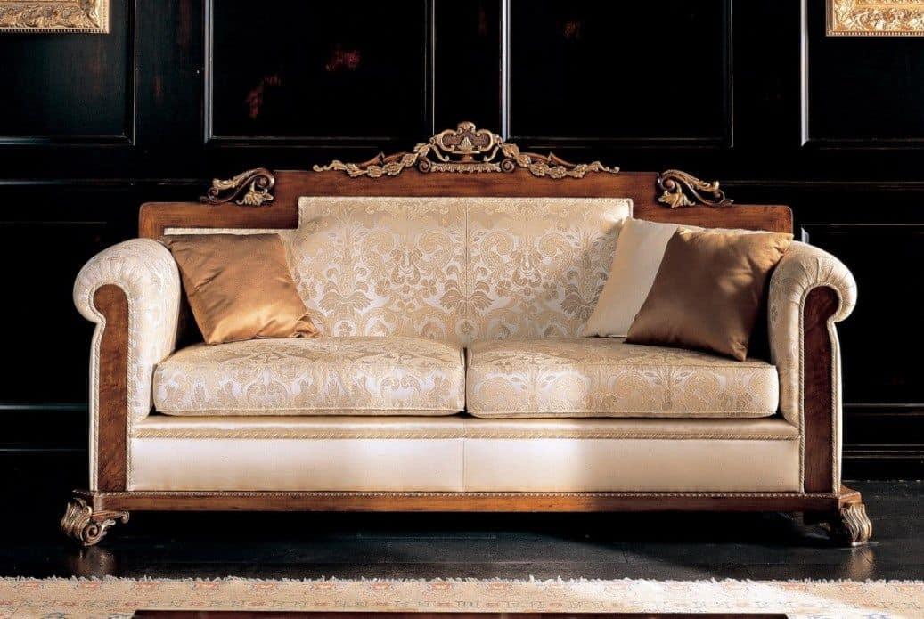 3 sitzer sofa aus massiver buche sitz und r cken gepolstert f r umgebungen im klassischen. Black Bedroom Furniture Sets. Home Design Ideas