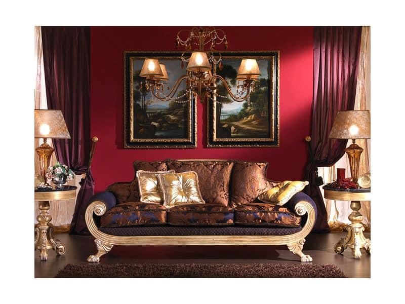 3 sitzer empire stil f r klassische wohnzimmer idfdesign - Klassische wohnzimmer ...