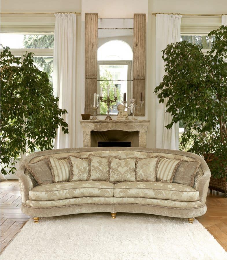 Airone modular, Sofa im klassischen Stil, gepolstert getuftet
