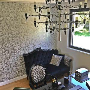 Angolo dx Samt, Luxus-Sofa im klassischen zeitgenössischen Stil