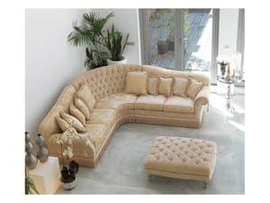 Angular Glicine, Knöpft Sofa in Luxus-klassischen Stil