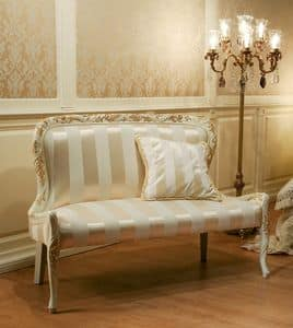 Art. 1078, Sofa in Stoff ohne Armlehnen, Barock