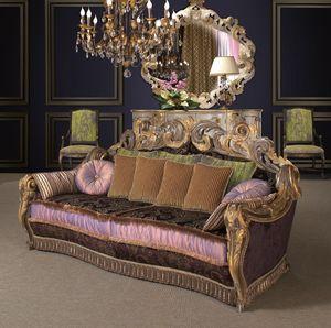 Art. 1249, Sofa mit glänzenden und beeindruckenden Schnitzereien