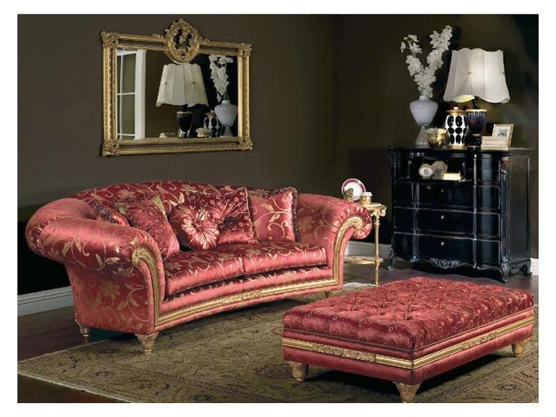Art. PA 53 Palace, Stately Couch mit einem Schlangenlinie, machte precisius durch zarte handwerklichen Schnitzereien