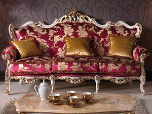 Baroque Sofa, Geschnitztes barockes Sofa