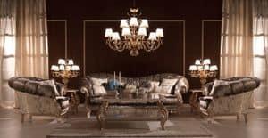 Benedetta, Luxus klassisches Sofa, qualitativ hochwertige, für Villen