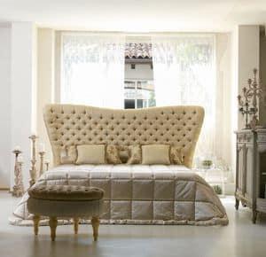 Bramante, Klassisches Bett, Kopfende gesteppte, handgemacht