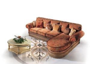 Cairo Tre, Klassischer Luxus Sofa mit Halbinsel