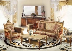 Cambridge Uno/B, Wohnzimmer Sofa im klassischen Luxus-Stil