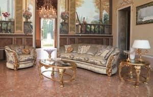 Cleos, 3 -Sitzer-Sofa für Klassiker -Umgebungen geeignet