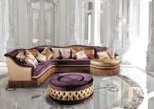 Decò Tre Sittingroom, Luxus klassische modulare Sofa, für Wohnzimmer