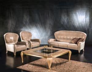 DI34 Butterfly, Klassisches Sofa, 3 Sitze, Lederausstattung, für Wohnzimmer