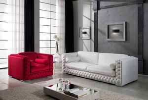 ELITE, Tufted Sofa mit Swarovsky