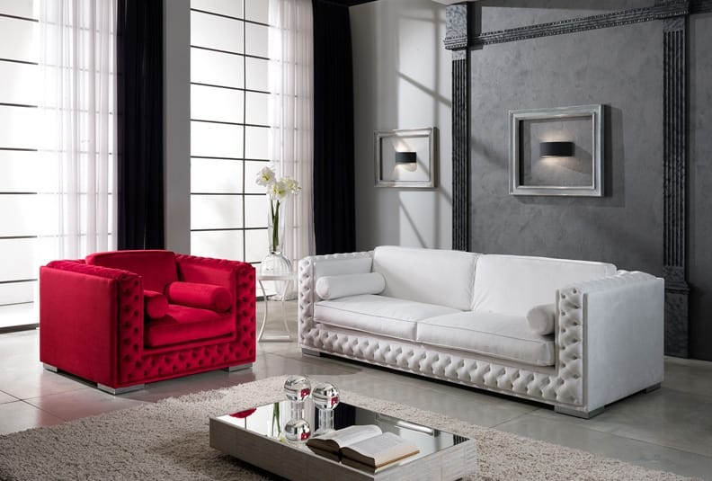 Tufted Sofa mit Swarovsky | IDFdesign