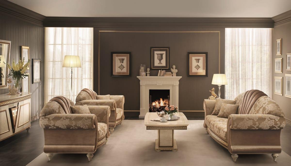 Neoklassizistischen Zentraler Fächerförmiger Sofa Im Mit Blende Stil srhdxBQCt
