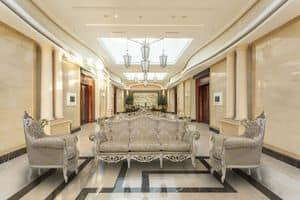 Finlandia Sitting room's set, Klassisches Wohnzimmer mit Blattgold Veredelungen